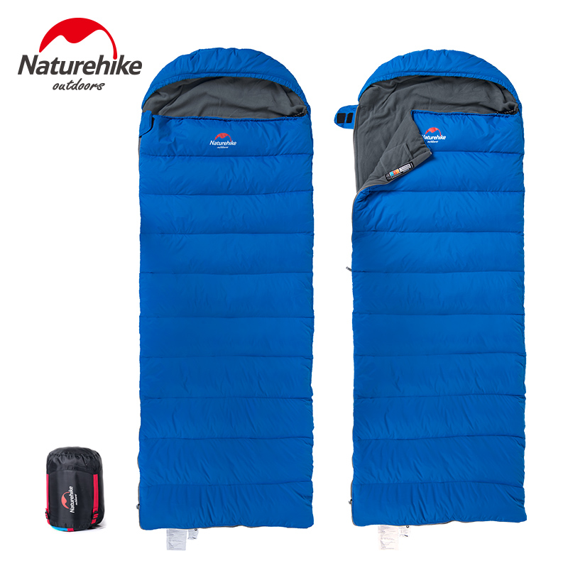 Naturehike NH15S007-D Duck Down Winter Outdoor Envelope Type Sleeping Bag Thickening Down Sleeping Bag Outdoor Travel 3 Colors nh zurbano 3 мадрид