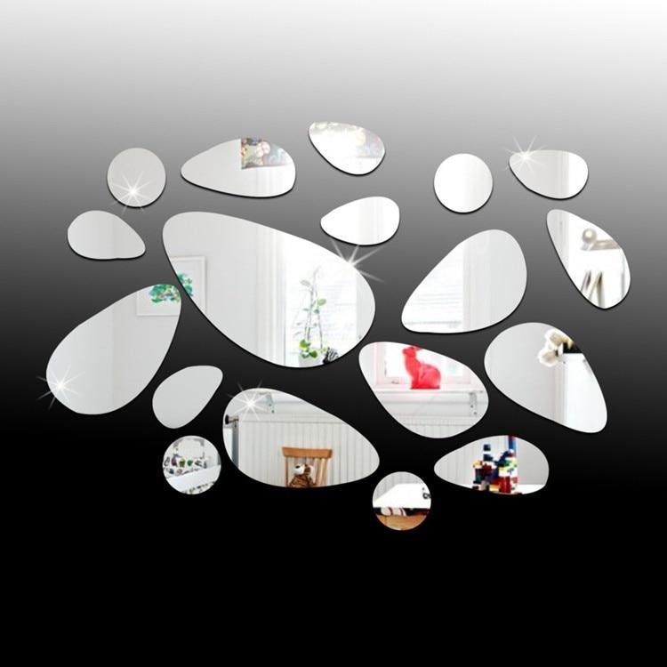 diseo oval piedra acrlica forma hogar etiqueta de la pared diy sin marco de fondo abstracto