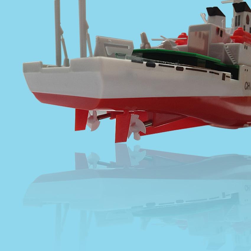 Freies verschiffen China Küstenwache Schiff 2,4G Elektrische Fernbedienung Schiffsmodell Navy Schlacht Schiff Dual Propeller DIY boot spielzeug geschenk - 4