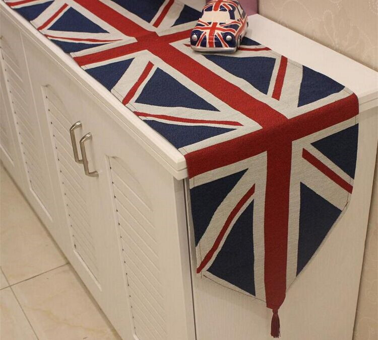 Classic British flag table runner / dinner table mat / tablecloth table decoration strip mat for Christmas/outdoor place mat