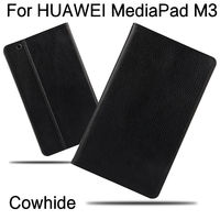 Case Cowhide For Huawei MediaPad M3 Cover Genuine Leather Tablets Protective 8 4 Inch Case For