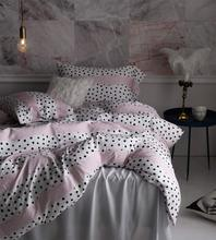 Modern cute polka dot bedding set adult teen girl,full queen king retro double home textile flat sheet pillow case quilt cover