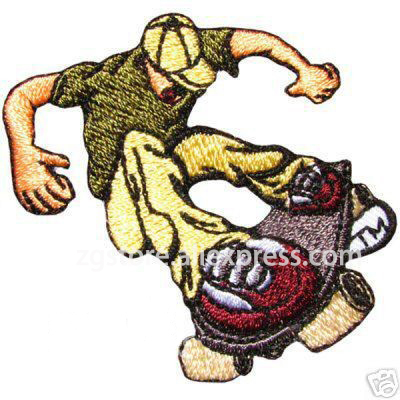 Hot Selling ! NEW Embroidery Classic Personality Patches SKATE BOY Patches Iron on 8cmx6.5cm EPT294