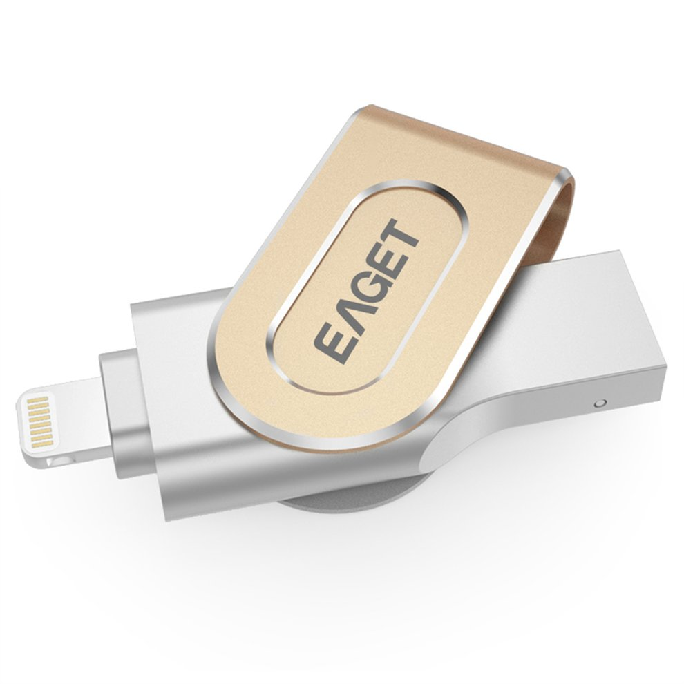 EAGET I80 USB 3.0 OTG 16G 32G 64G Metal Pendrive Digital encryption Flash Drive with Key Ring holes Disk for iPhone PC Laptop цена
