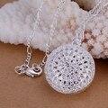 Посеребренная ювелирные изделия прекрасно мода милый 925 ювелирных изделий посеребренные круглый ожерелье подвески Высокое качество CP136