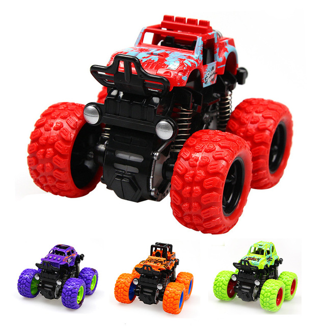 1 Piece Kids Cars Toys Monster Truck Inertia Suv Friction Power