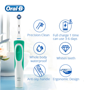 Image 4 - Oral B Electric Tooth Brush Whiten Teeth Rechargeable Waterproof Toothbrush Soft Brush Head Whiten Teeth With Gift
