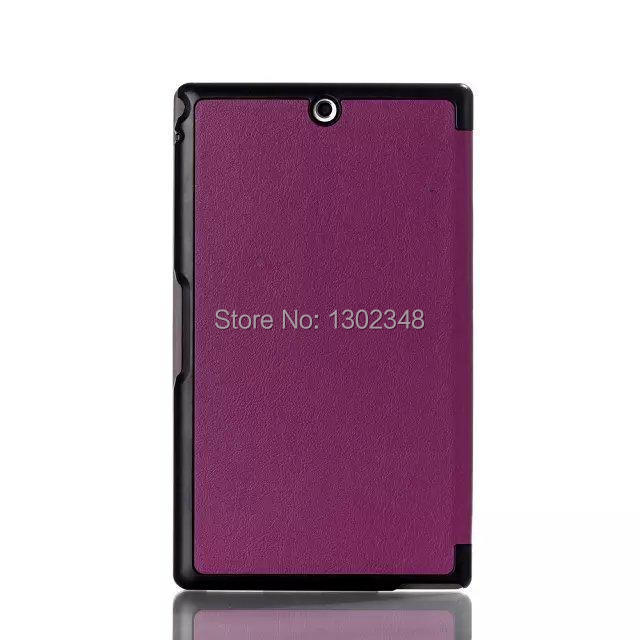 Ultra Slim Cass MagSmart Auto Sleep/Wake 3 Fold Folio Stand PU Leather Cover Case For Sony Xperia Z3 Tablet Compact SGP621/641 cass kiera the heir