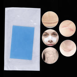 12x8 см многоразовый силикон удаление патч гель от угрей шрам терапия патч удалить травма ожог лист кожи ремонт