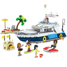 2019 3in1 City Girl Friends Cruising Adventures Ship Boat Compatible legoery Building Blocks 31083 Bricks Toy Gift