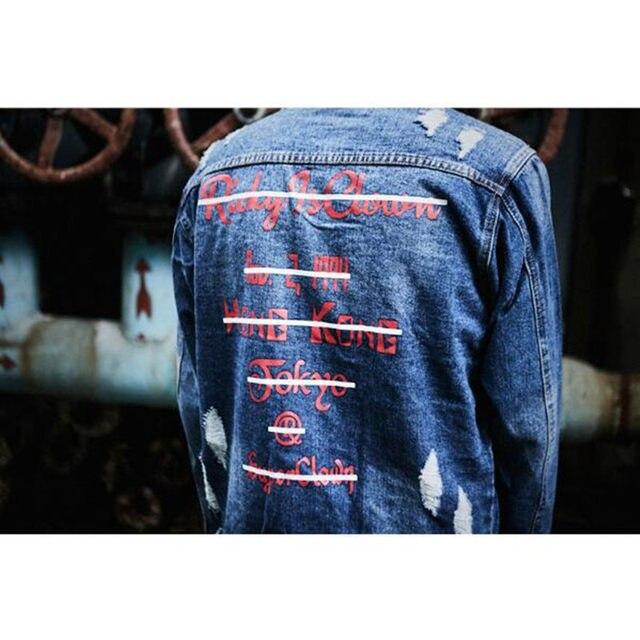 fd02255280 ... JACKET  shop 433bd c6d90 Online Shop Graffiti Letter Men Ripped Denim  Jackets Mens 20 ...