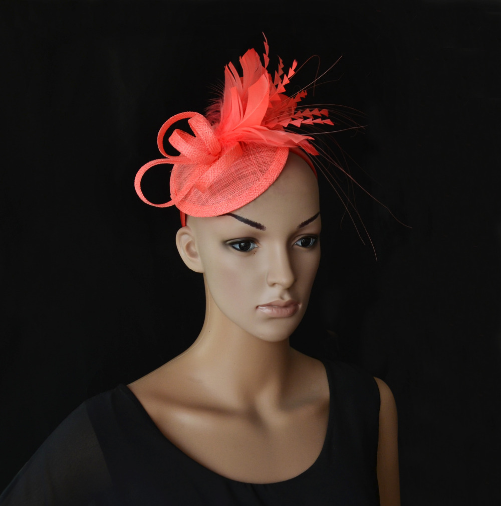 Aliexpress Buy NEW Feather Sinamay Hat Fascinator For Kentucky Derby Wedding Party FREE SHIPPING From Reliable Suppliers On QESC GROUP