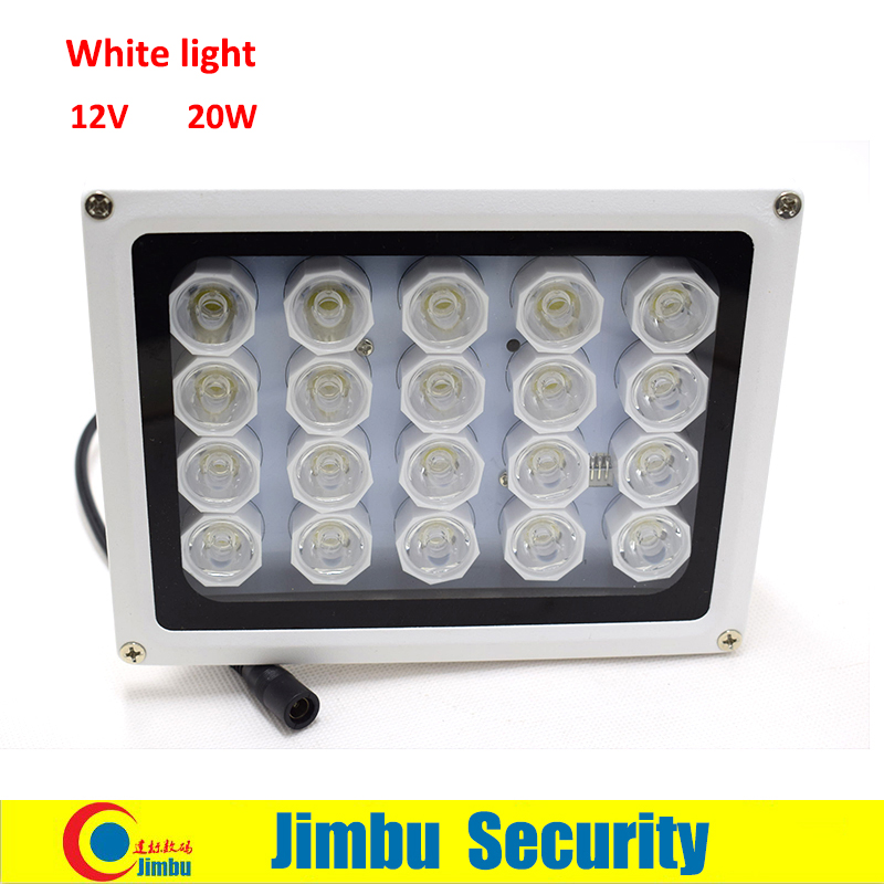 Infrared Induction Supplementary CCTV White Light For Cctv Camera Shooting License Plate Light 12v 20w Can Work For Car Aisle