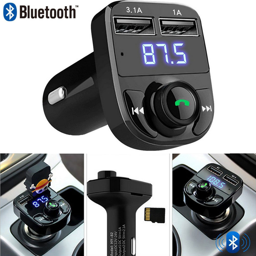 1pcs FM Transmitter Aux Modulator Bluetooth Handsfree Car Kit Car Audio MP3 Player with 3.1A Quick Charge Dual USB Car Charger