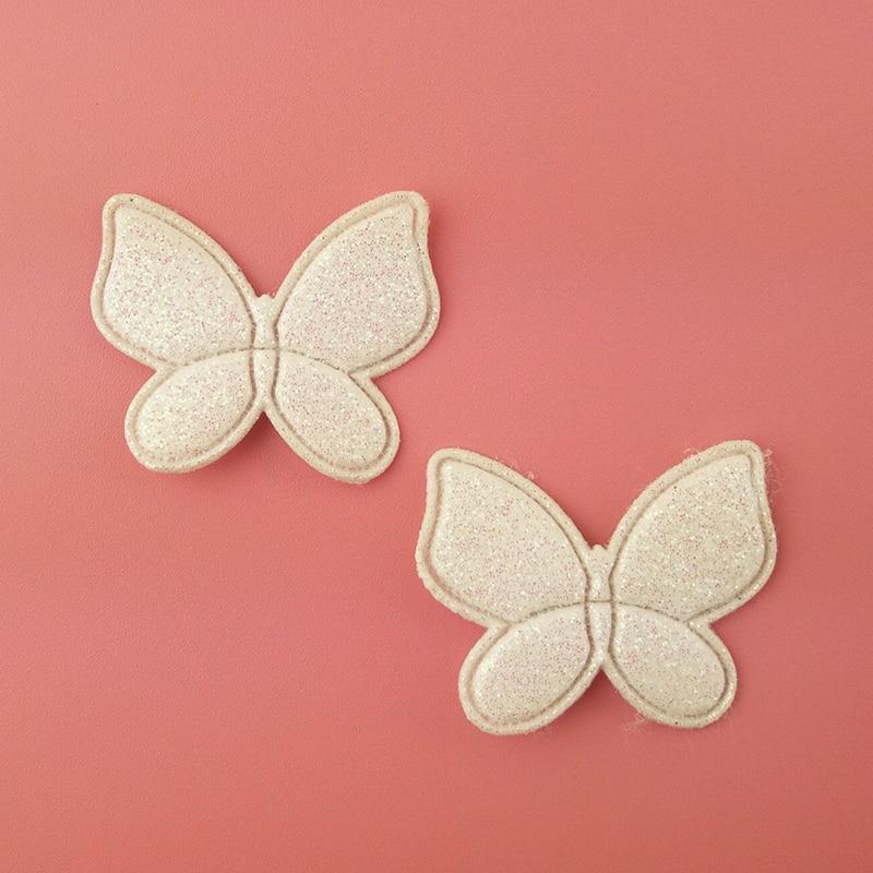 Glitter Felt Applique Blue Angel Wings Glitter Applique Diy Craft Supply 3.5cmx5.5cm Flat Back Applique No Clip