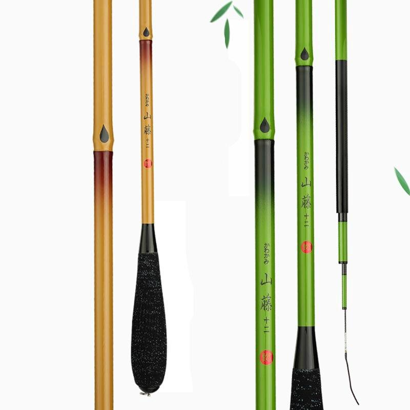 Importato Carpa Canna Da Pesca Alto Tenore di Carbonio 37 Tono Taiwan Canna Da Pesca in Bambù Imitazione 2.7/3.6/3.9/4.5 /4.8/5.4 m Mano Canna Da Pesca Set