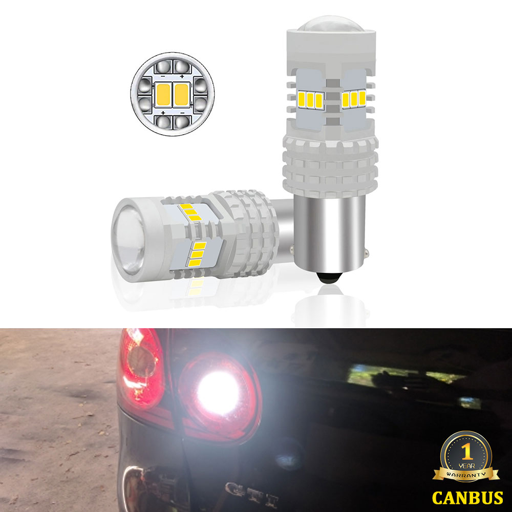 2PCS P21W <font><b>LED</b></font> White CANBUS No Error 1156 Car <font><b>LED</b></font> Bulb for Volkswagen <font><b>VW</b></font> <font><b>Passat</b></font> <font><b>B5</b></font> B6 <font><b>LED</b></font> Backup Reverse <font><b>Light</b></font> Lamp 2001-2010 image