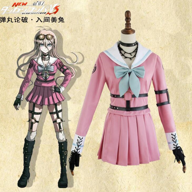 Danganronpa V3: Killing Harmony Anime cosplay Miu Iruma Lolita costume Combat suit Performance Costumes