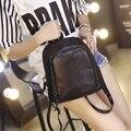 Новые Корейской версии приток небольшой свежий колледж мини сумка мягкий pu конфеты цвет небольшой рюкзак женская сумка