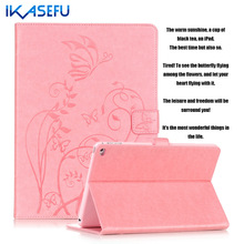 IKASEFU PU Leather Case for Apple ipad 6 Air 2 9 7 inch Fundas Coques Filp