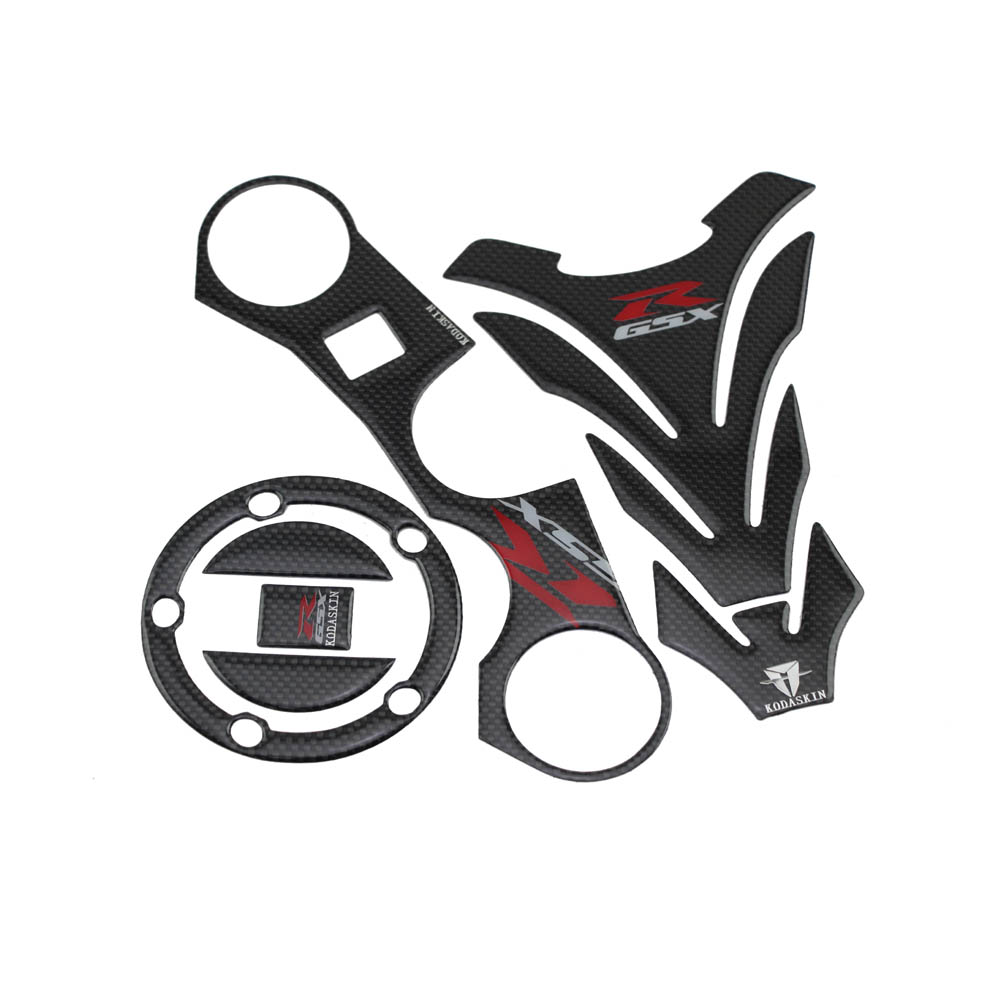 KODASKIN Triple Tree Front End Upper Top Clamp Decal Stickers Tank Protector for GSXR 600 750 1000 K6 K7 K8 K9 L1 06-12 striped front pocket tank top