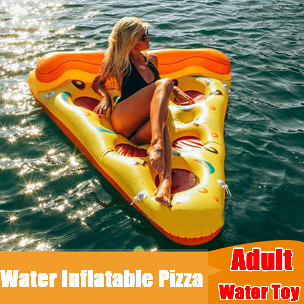 Free DHL 188*150CM Swimming Pool Float  Inflatable Pizza Couch Camping Water Sleeping Compression Air Lounge Mat 90kg Bearing charming solid color faux gem embellished ear cuff for women one piece