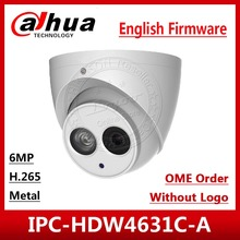 Dahua IPC HDW4631C A HD 6MP POE dahili mikrofon metal IR30m IP67 ağ Dome kamera çoklu dil OEM siparişler logo kahverengi kutusu