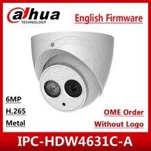 Купольная сетевая камера Dahua IPC HDW4631C A HD 6MP POE, встроенный микрофон, металлический IR30m IP67, многоязычные OEM заказы с логотипом, коричневая коробка