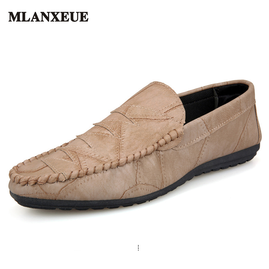 MLANXEUE Luxury Brand Designer Soft Moccasins Men Loafers Casual PU Leather Shoes Men Flats Gommino Driving Shoes Footwear Male 2017 autumn fashion men pu shoes slip on black shoes casual loafers mens moccasins soft shoes male walking flats pu footwear