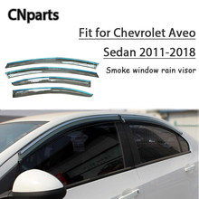 898324a0b34 CNparts 4pcs ABS For Chevrolet Aveo Sedan 2011-2018 Car Smoke Window Visor  Deflector Guard Accessories