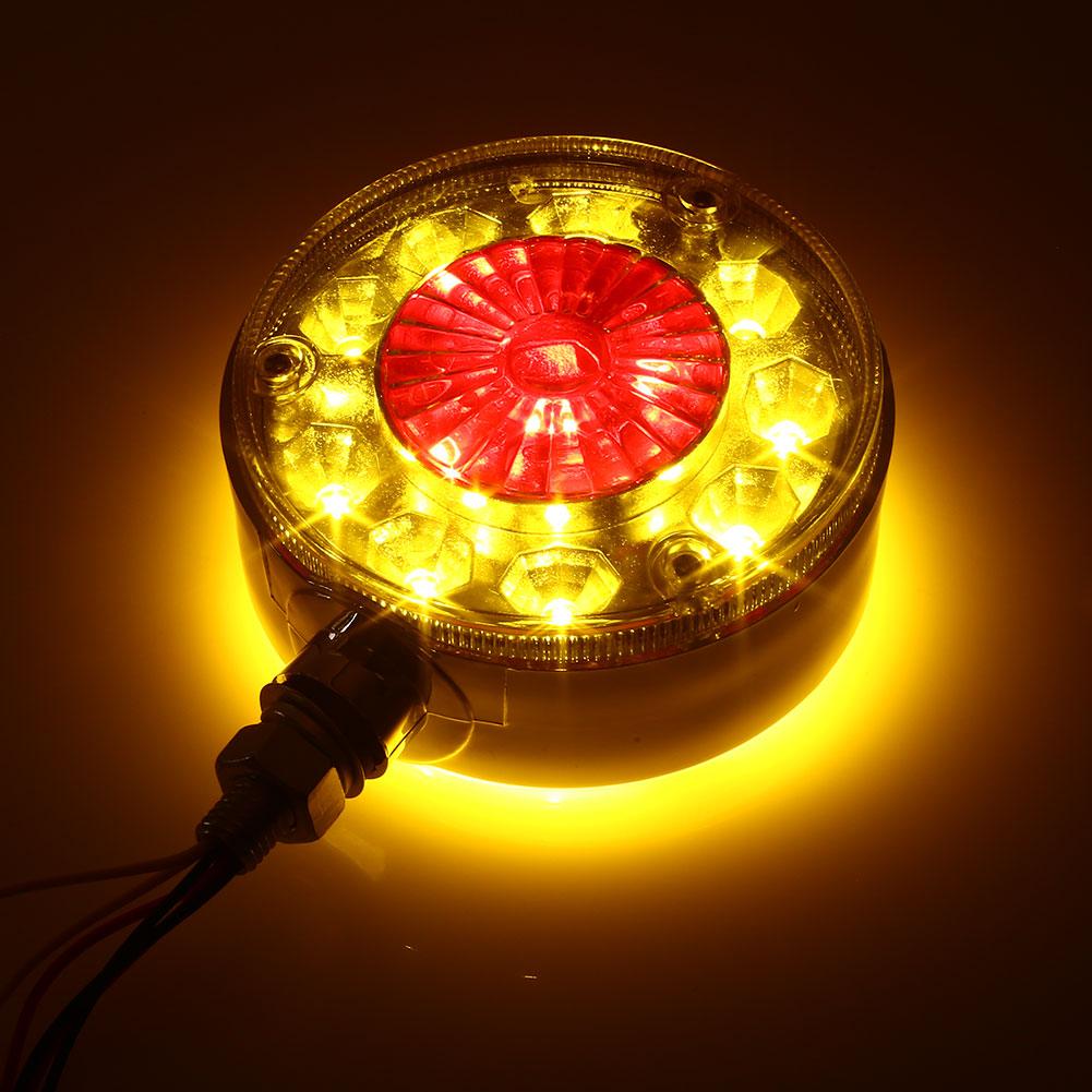 Vehemo двойной цвет 28LED указатели поворота сигнальные лампы тракторы яркие водонепроницаемые задние фонари грузовика световой стоп-сигнал на крышу - Испускаемый цвет: yellow red