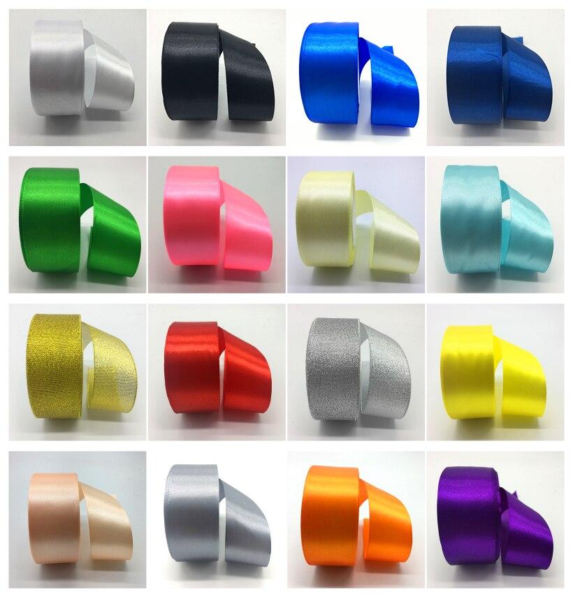 5yds/lot (1-1/2 дюйма 38 мм) шелковые, атласные ленты полиэстер лента для Свадебная вечеринка Рождество ленты Палочки Цвет