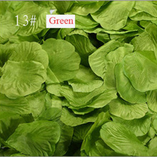 500pcs / lot Silk Rose Petals Flower Leaves Petals Wedding Supplies Favor Party Decorations Green Golden Black Color