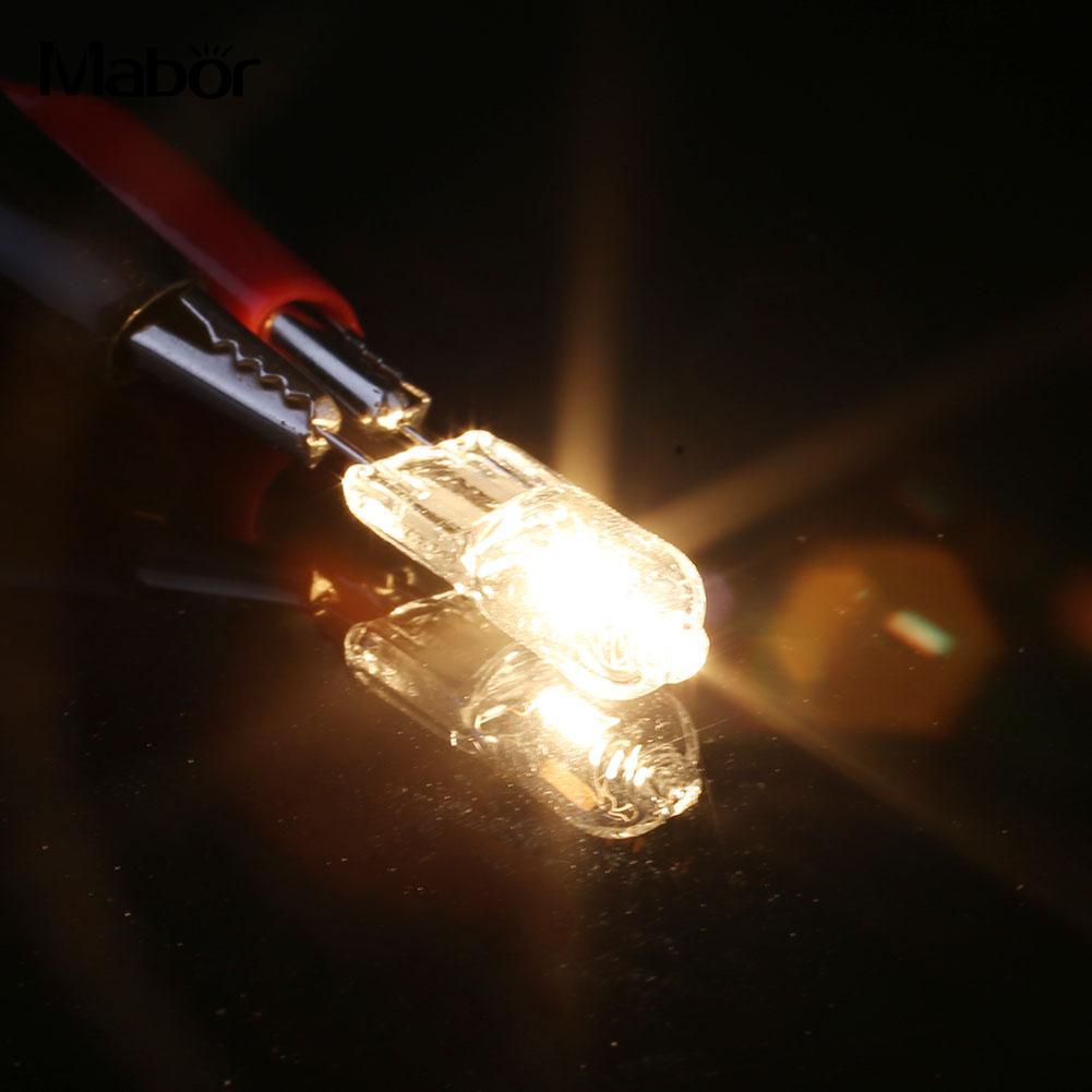 Durable Eco Friendly Halogen Lamp LED Bulb 2Pcs 12V 20W 7*30MM Indoor Outdoor Room Lighting Lighting Fixture Household Supply