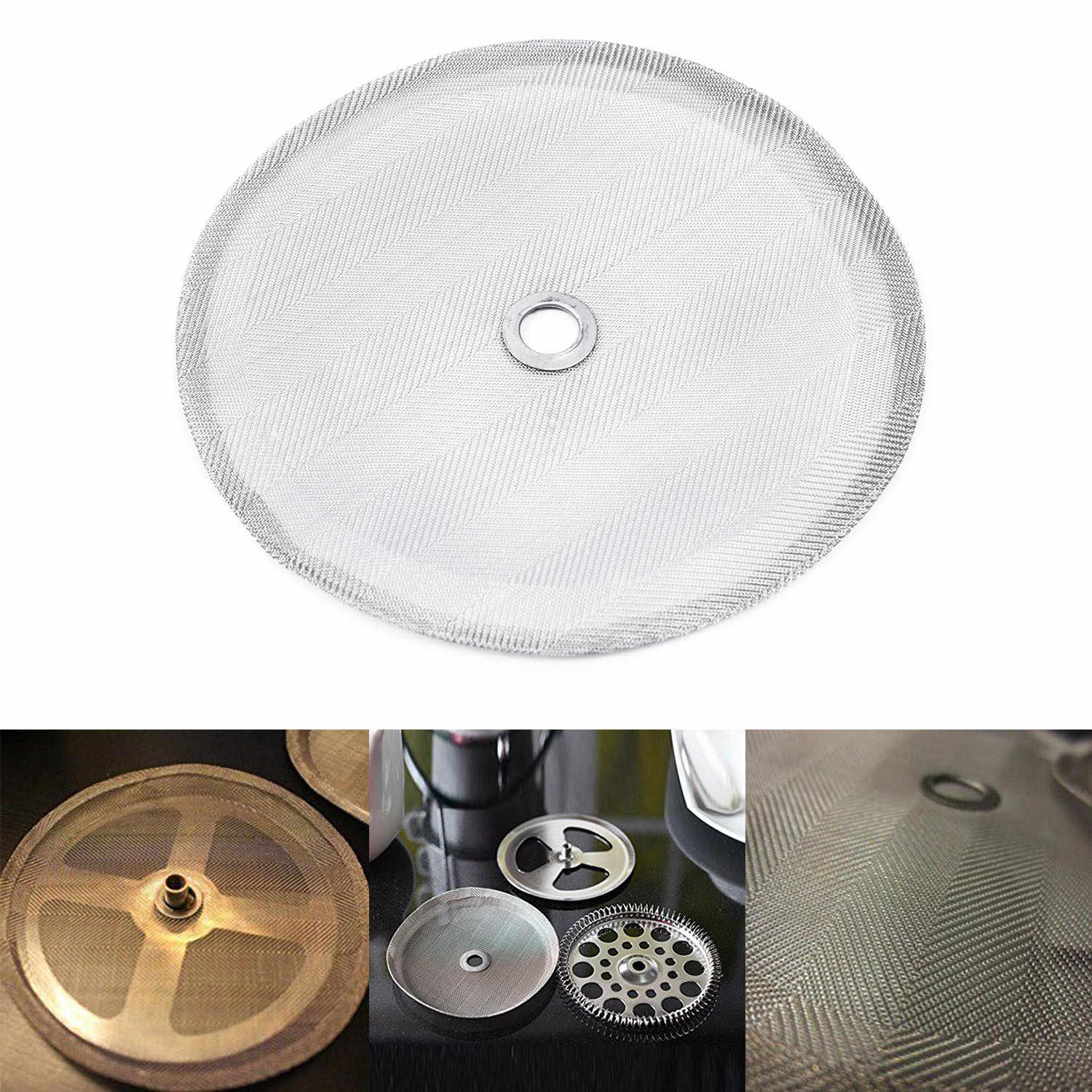 101mm//4inch French Coffee Press Stainless Steel Filter Mesh For Coffee Maker