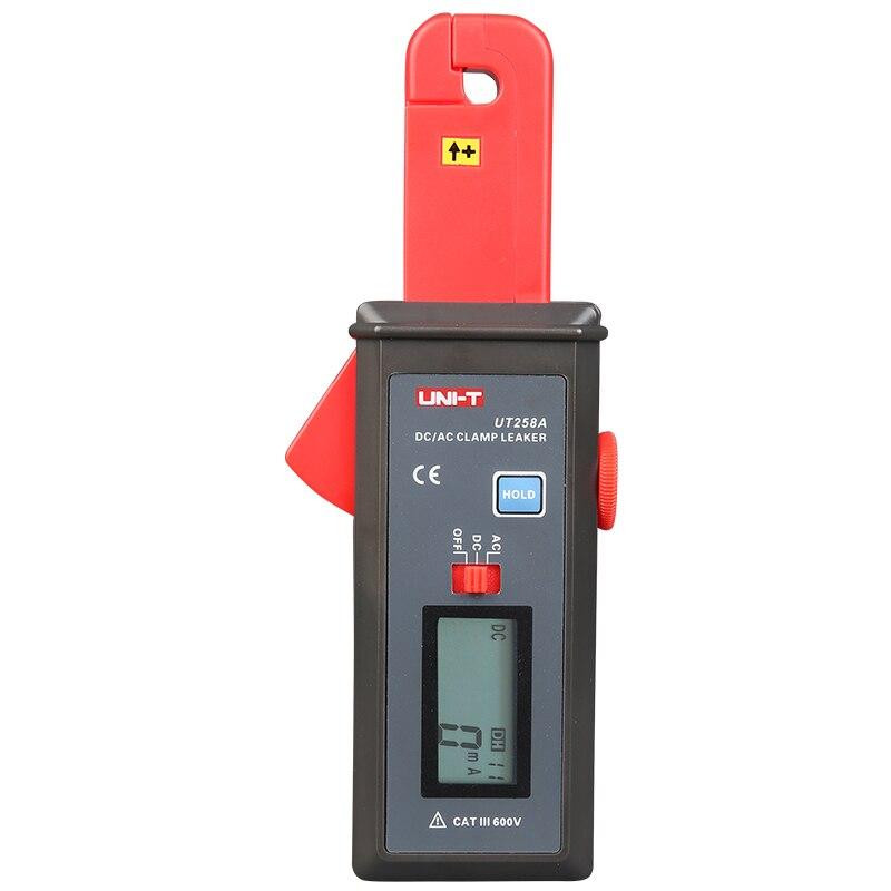 UNI-T UT258A AC/DC Clamp amperímetro Ampere Analog Meter corriente de fuga Tester