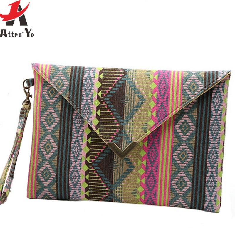 Attra-Yo Women Bag Purse Party-Bag Evening-Bag High-Quality Canvas National Pouch Ls4454ay