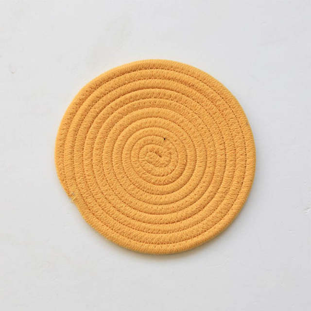 5e292c8d78c Hand-made Placemat Pad Coasters Kitchen Table Mats Cotton Linen Knitting  Bowl Mats Padding Mat