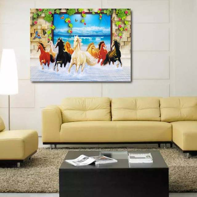 Big Paintings For Living Room. SAVE BIG ON ANNIVERSARY SALE Online Shop Unframed 3D Horse Large Size Paintings For Living Room