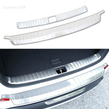 Stainless Steel Exterior Interior Rearguards Rear bumper Trunk Trim Bumper Pedal For Hyundai Tucson 2015 2016 2017 2018