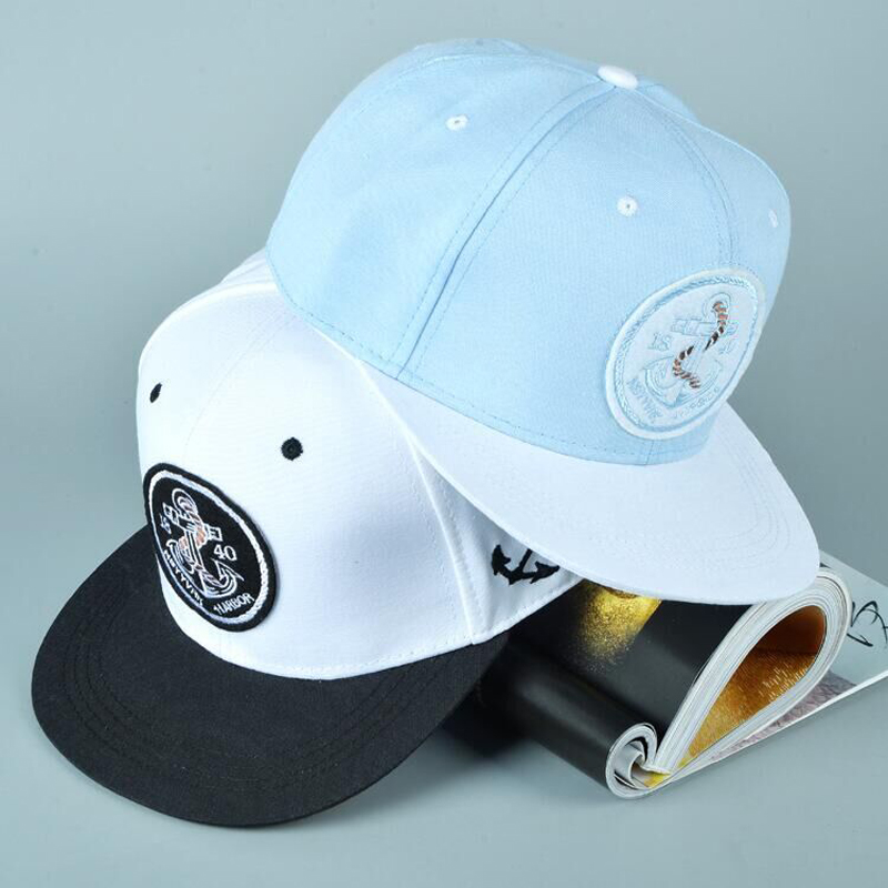 2018 anchor patch bone snapback 1840 new york harbor hiphop   baseball     cap   fashion casquette adjustable hat gorras for women men