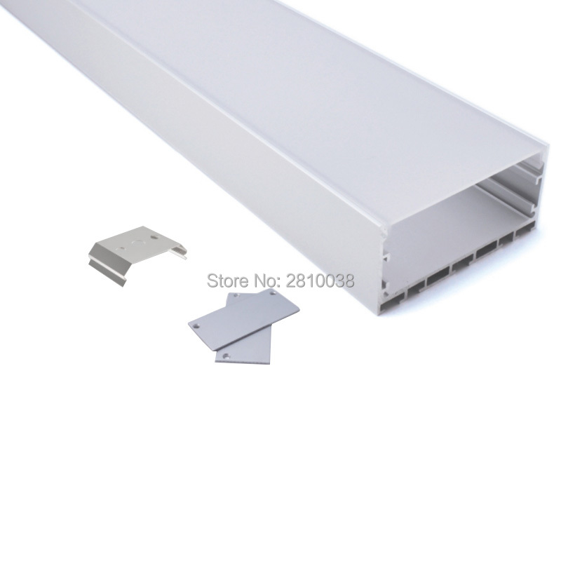 50 X 2M Sets/Lot Office lighting led linear profile Larger wide U frame aluminium led housing channel for suspension lights 12x 2m sets lot office lighting aluminum u channel and super wide aluminum led strip profile for ceiling or pendant light
