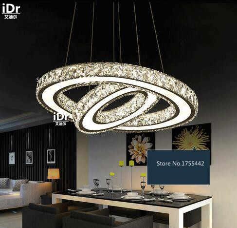 Круглый светодиодный светильник из нержавеющей стали для гостиной, столовой, современный минималистичный гостиничный номер, люстры XXT-009