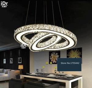 Image 3 - נירוסטה עגולה led עגול אוכל סלון מודרני מינימליסטי נברשות חדרי מלון XXT 009