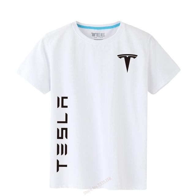 Brand Men's Cotton O-Neck Tesla T-shirt