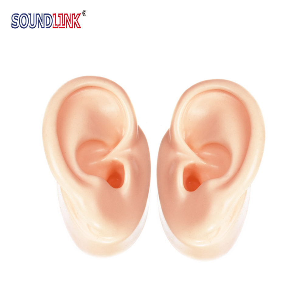 1Pair Silicone Ear Model for Hearing Aids and IEM Display Emulational Ears (1 left ear + 1 right ear) acrylic display with silicone ear model for hearing aids iem jewelry exhibition demonstration