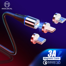 MOOJECAL 3A Magnetic USB Cable Fast Charging For iPhone X XS MAX XR 8 7 6s Plus 5 Mobile Phone Charger Cord Usb Data