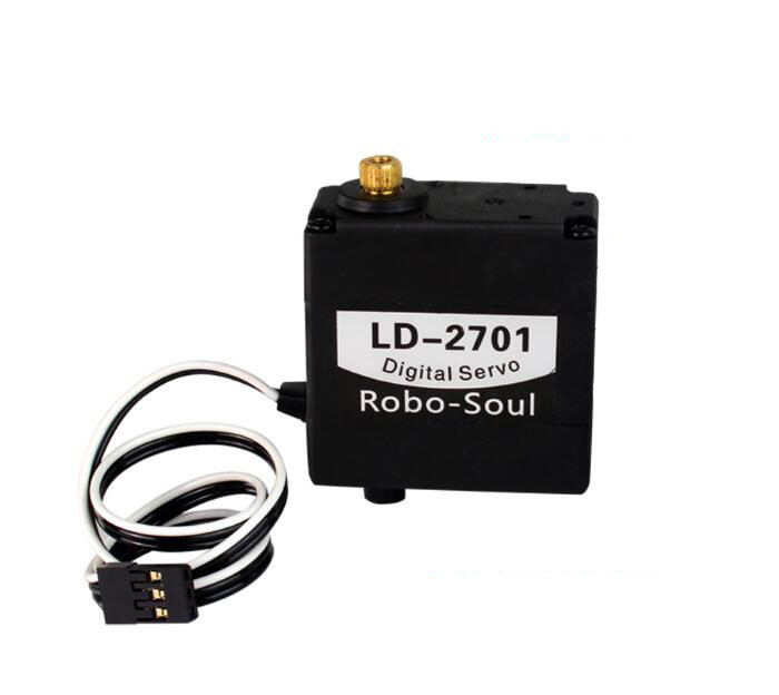 17KG Large torque digital servo LD-2701 robot for Manipulator 270 degree dual shaft with metal gears