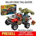 New 460Pcs Lepin 07051 Genuine Batman Movie Series The Killer Crocodile Tail-Gator 70907 Building Blocks Bricks Educational Toys