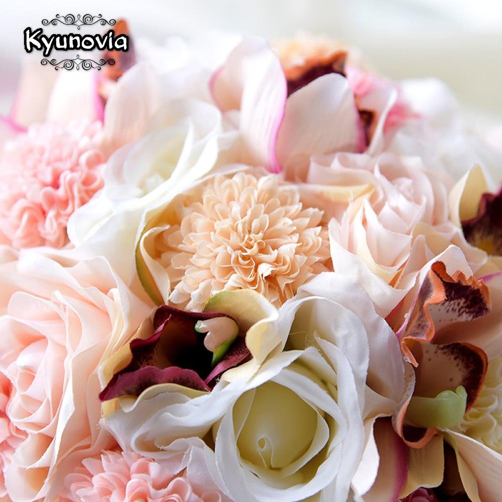 Kyunovia коприна сватбен букет цветя - Сватбени аксесоари - Снимка 3